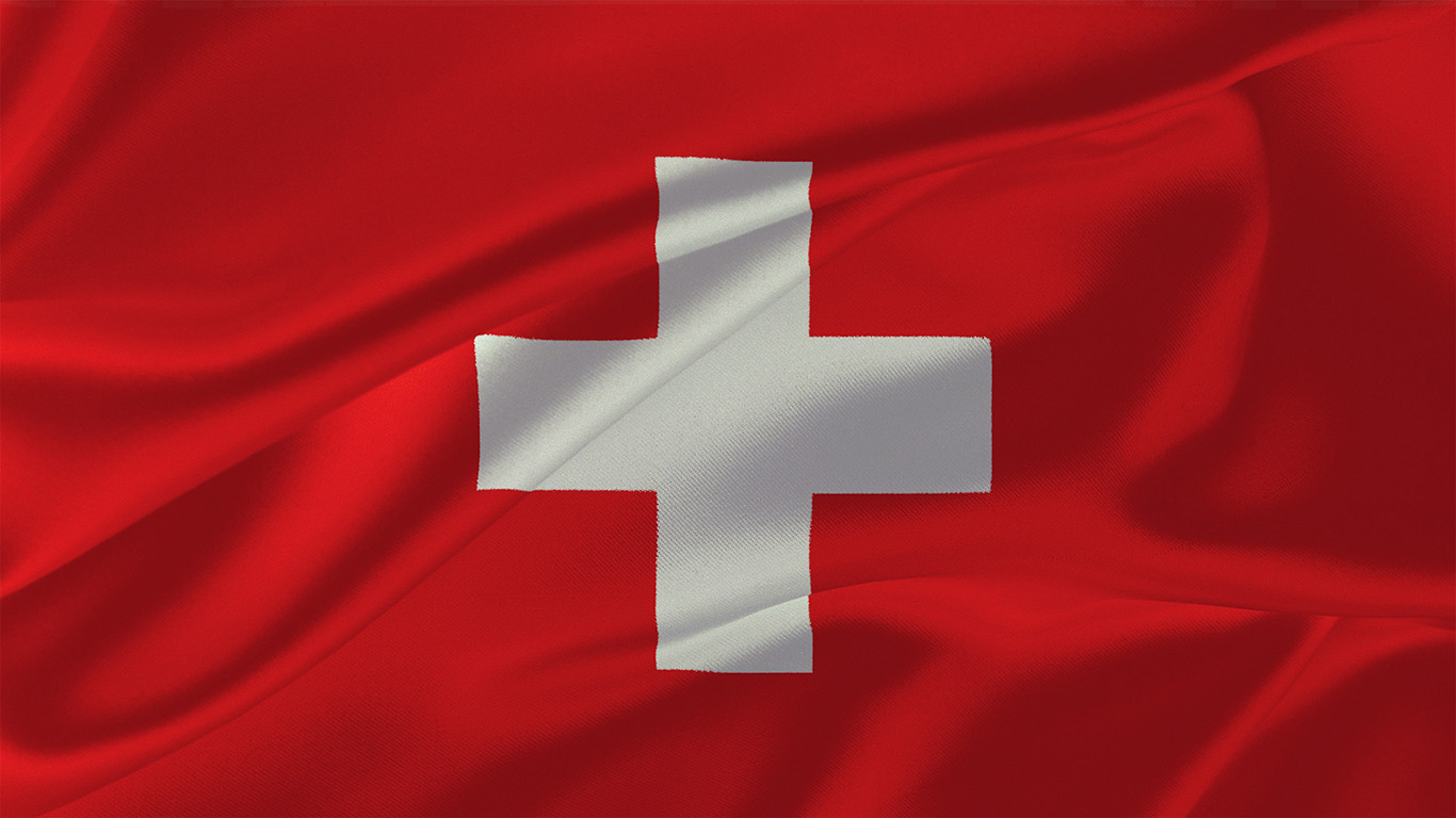 Die Flagge der Schweiz 015 - Hintergrundbild