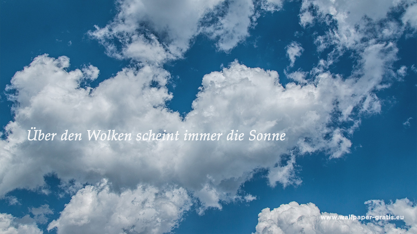 Zitat Himmel Amp Wolken 005 Hintergrundbild
