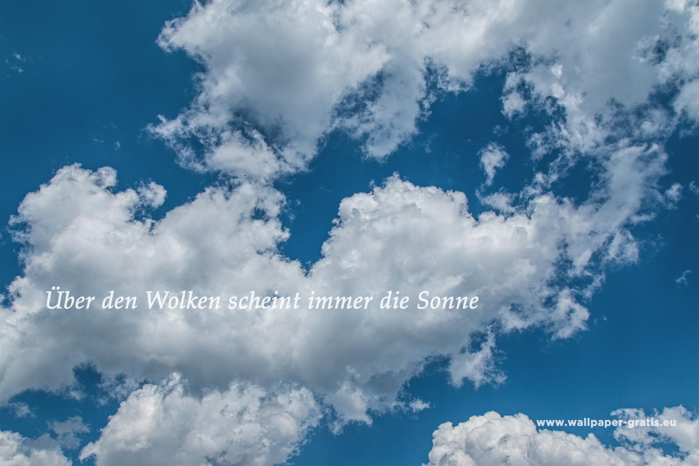 Zitat - Himmel & Wolken 005 - Hintergrundbild
