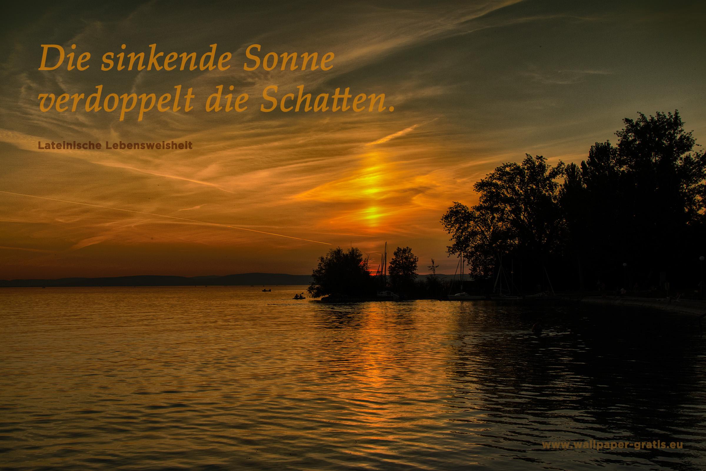 Zitat - Sonnenuntergang 002 - Hintergrundbild