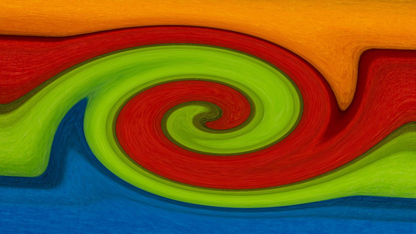 Orange-Rot-Grün-Blau