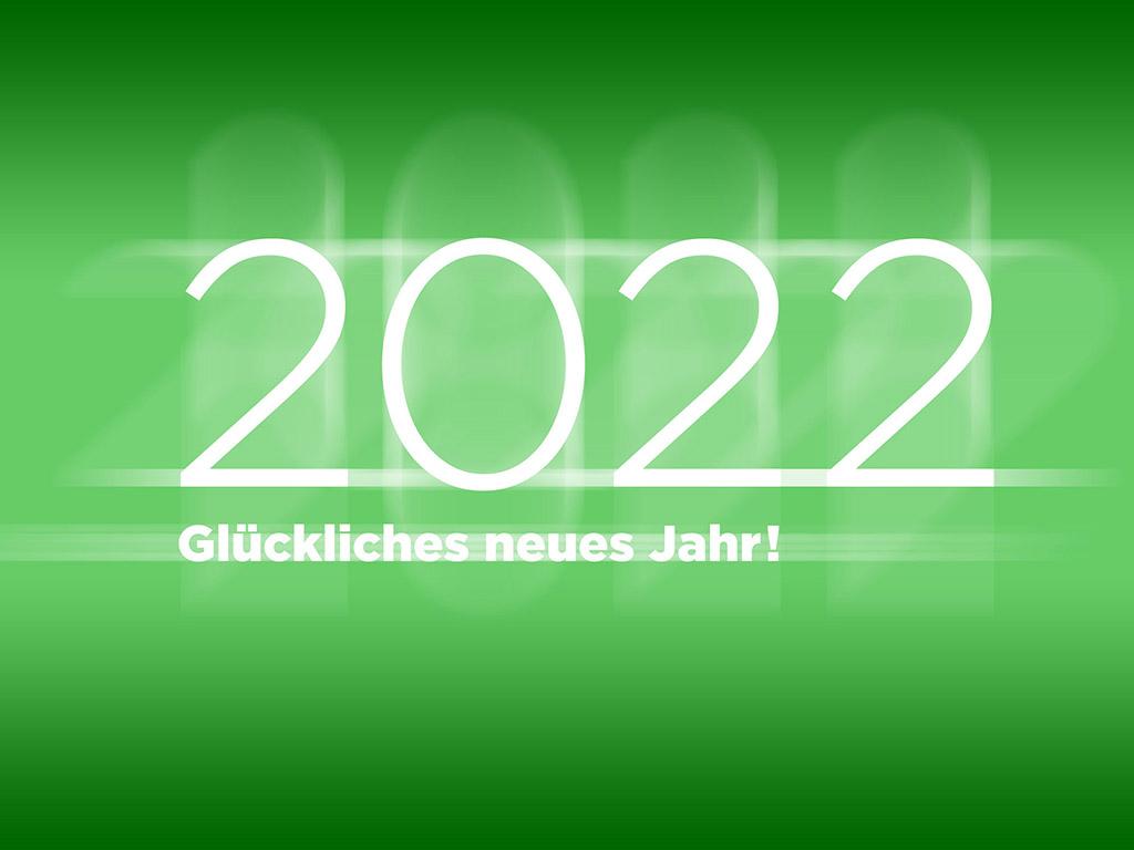 2022 Glückliches neues Jahr