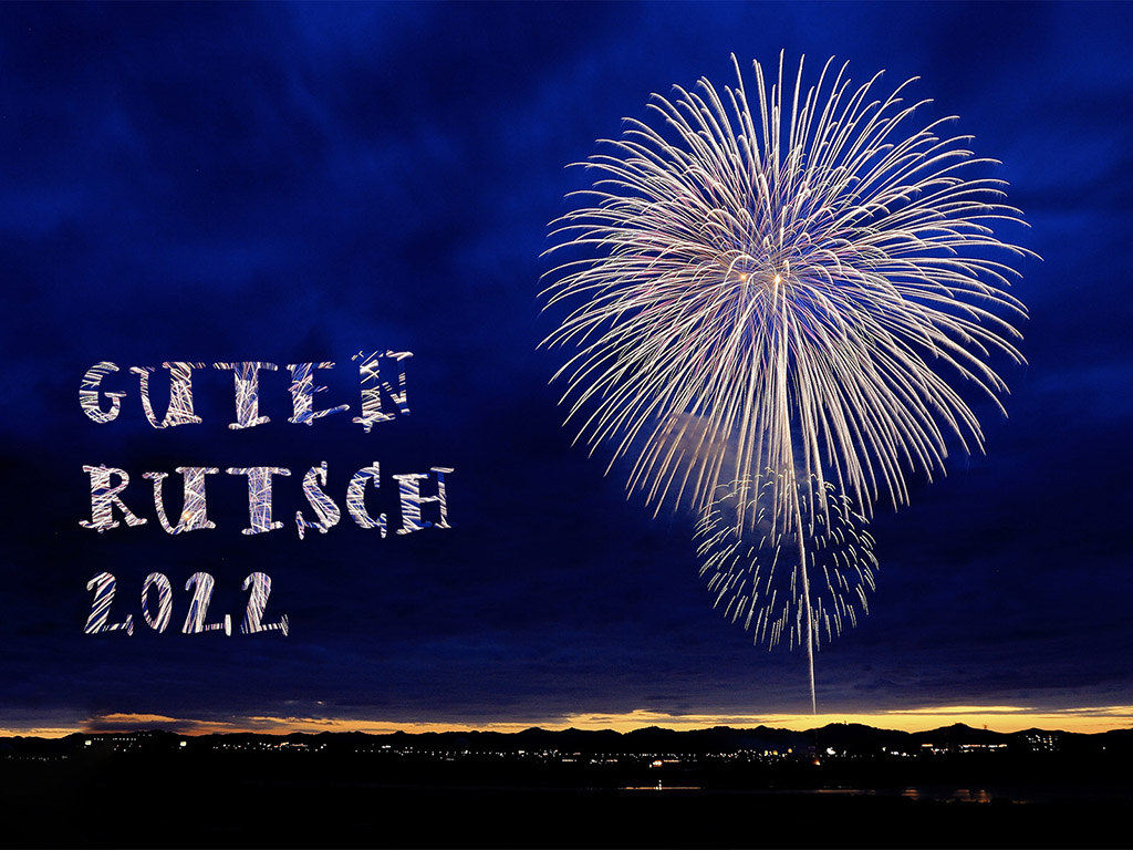 Neujahrsgruss mit Feuerwerk 2022 - frohes Neues Jahr
