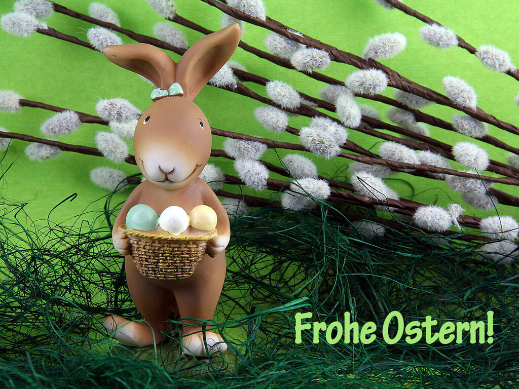 osterhase mit ostereier frohe ostern ostern. Black Bedroom Furniture Sets. Home Design Ideas