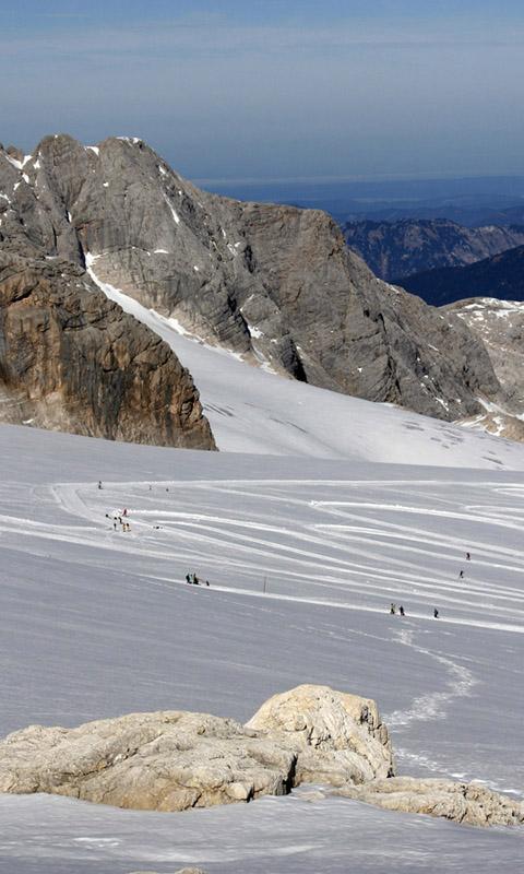 Dachstein, Alpok, Ausztria, hó, tél, napsütés
