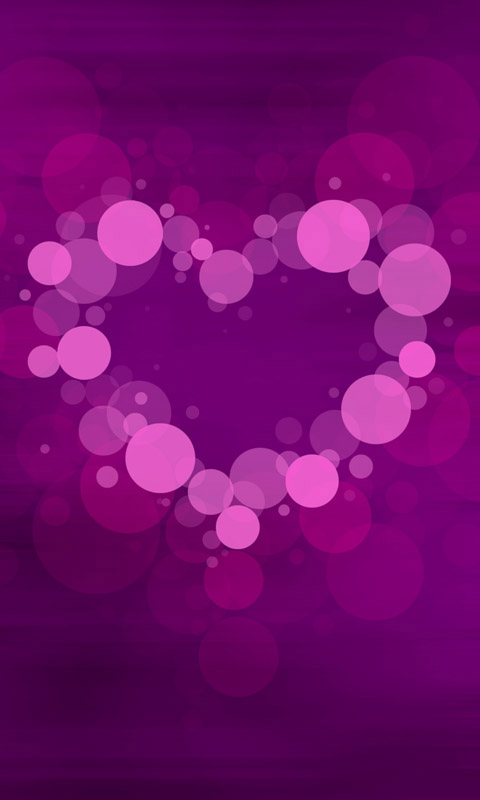 Bubble Heart 002 Kostenloses Handy Hintergrundbild