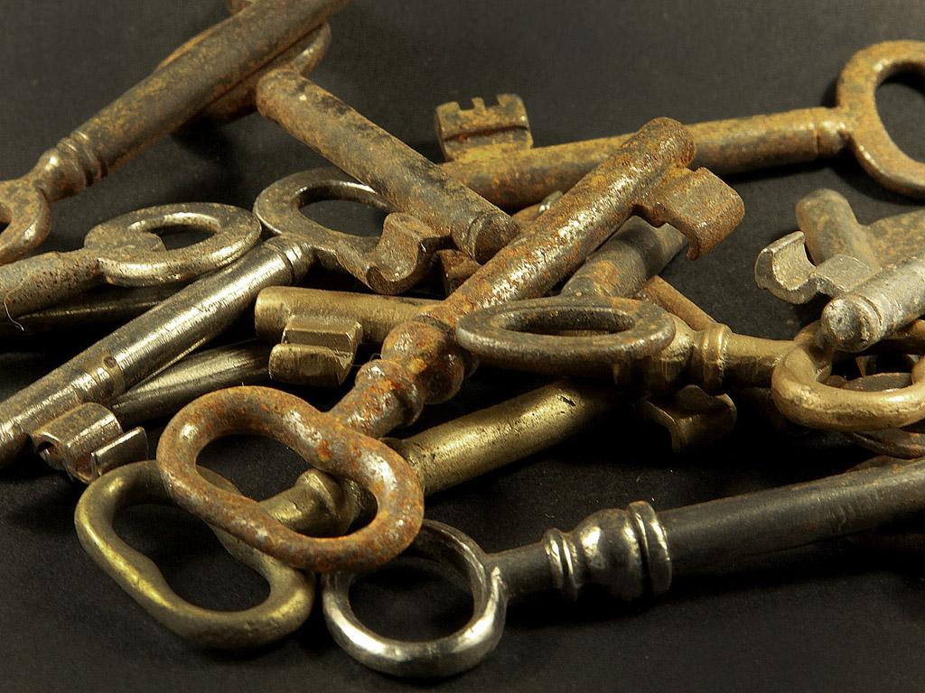 Rozsdás, régi kulcsok