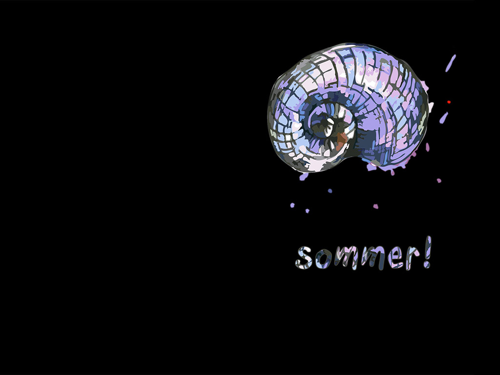 Sommer - schwarzes Hintergrundbild - Meerestier