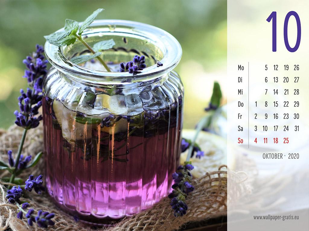 Oktober - Kalender 2020 - Lavendel