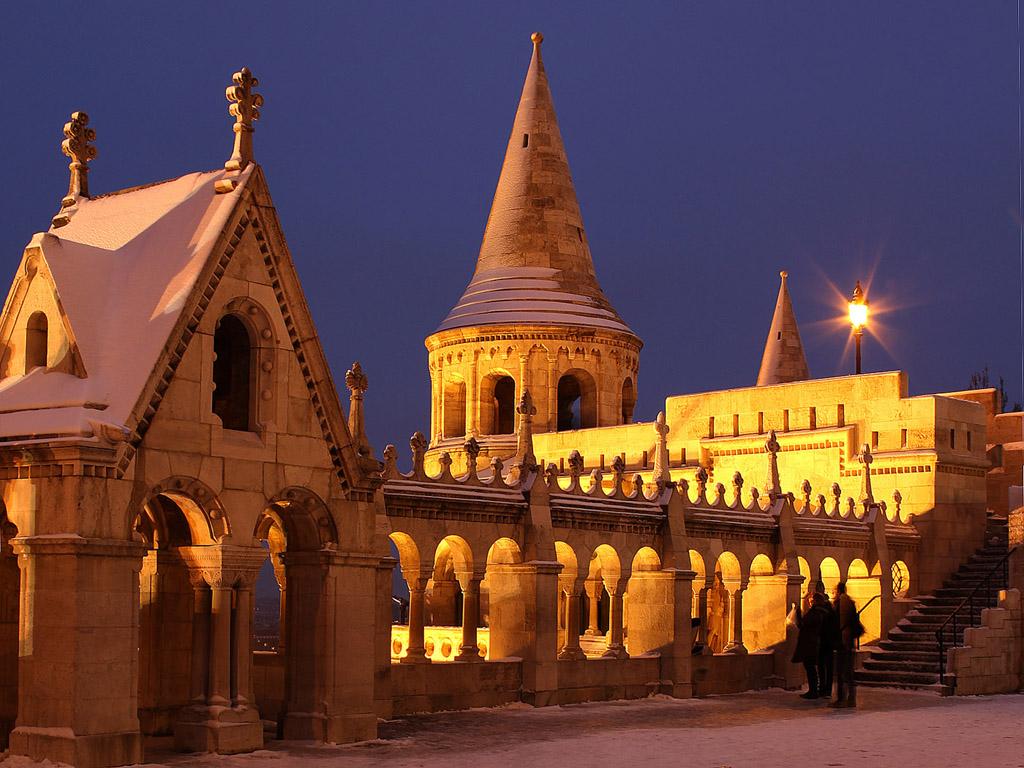 Budapest este: Halászbástya