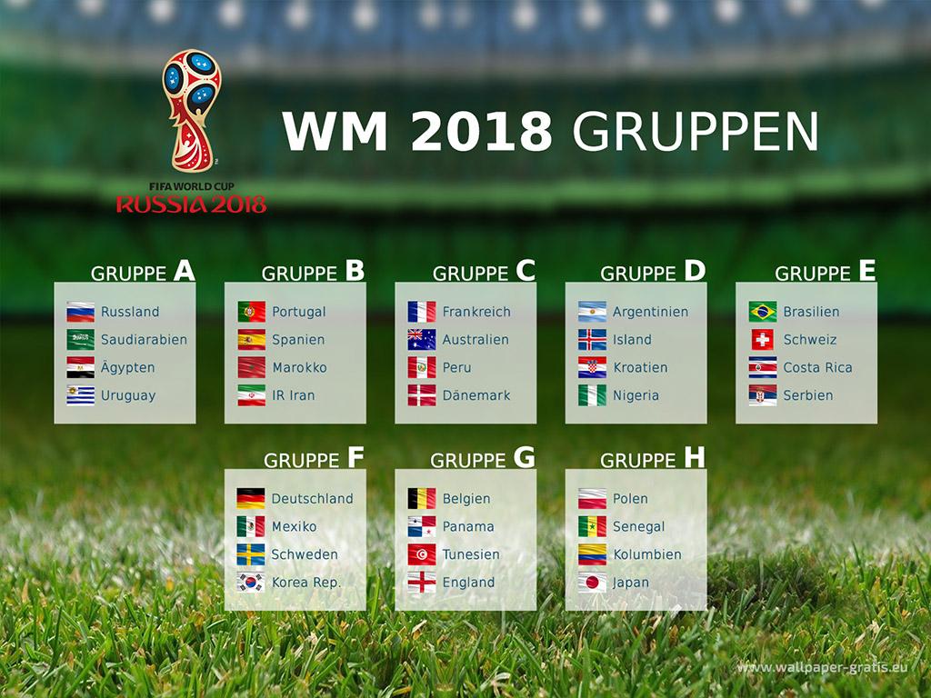 Fussball Wm 2018 Gruppen 002 Hintergrundbild