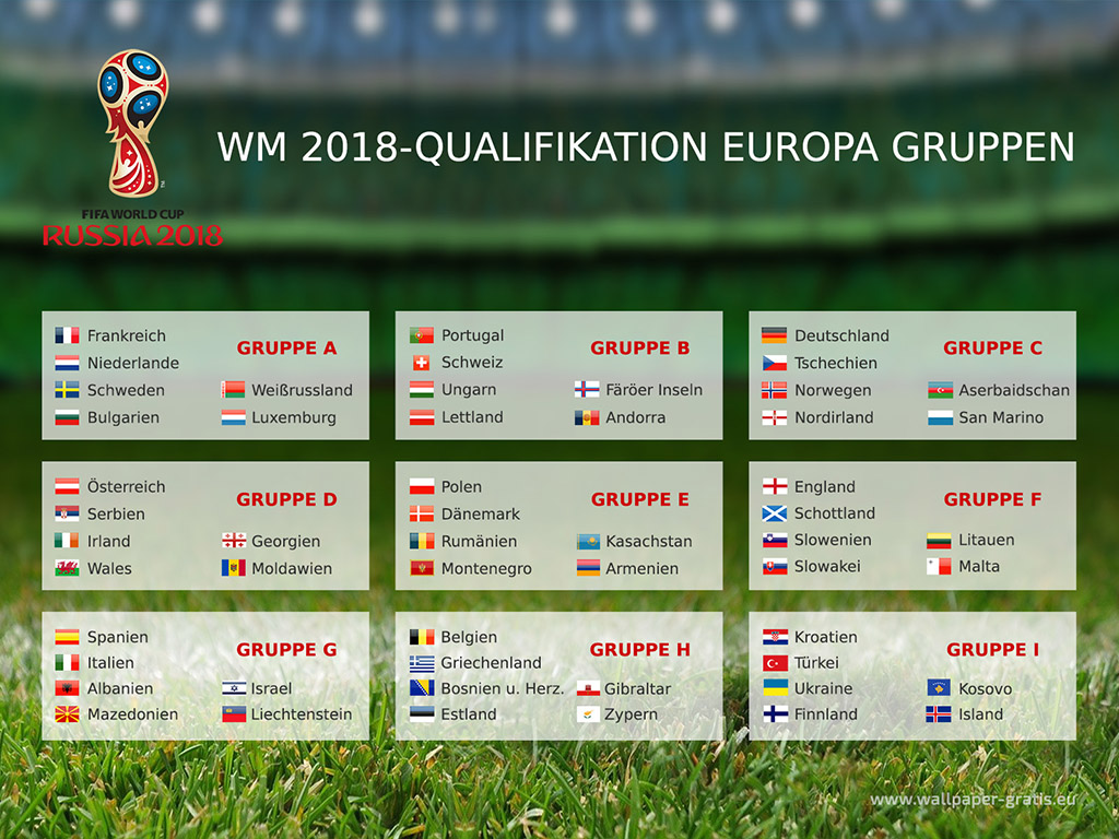 Fussball Weltmeisterschaft 2018 - Russland - Qualifikation