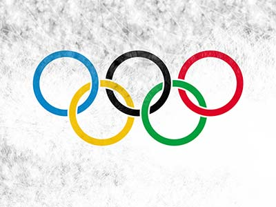 Olympische Ringe - Flagge